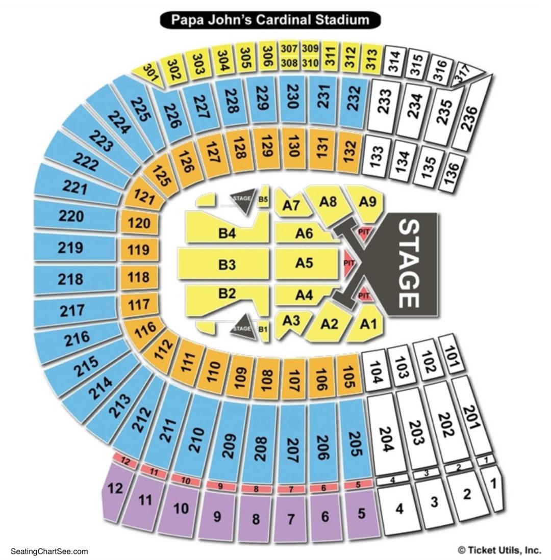 Cardinal Stadium Seating Chart