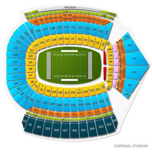 2020 Louisville Cardinals Football Season Tickets (Includes Tickets To All Regular Season Home Games) at Cardinal Stadium